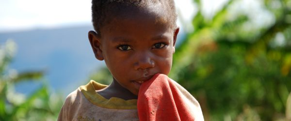 August 8, 2014, Mountain Kilolo, Kilolo, Tanzania, Africa - The intense look of an unidentified African child of mountain Kilolo that survives thanks to the help of international NGOs and the Franciscan Friars who bring to their medicines, food and clothing